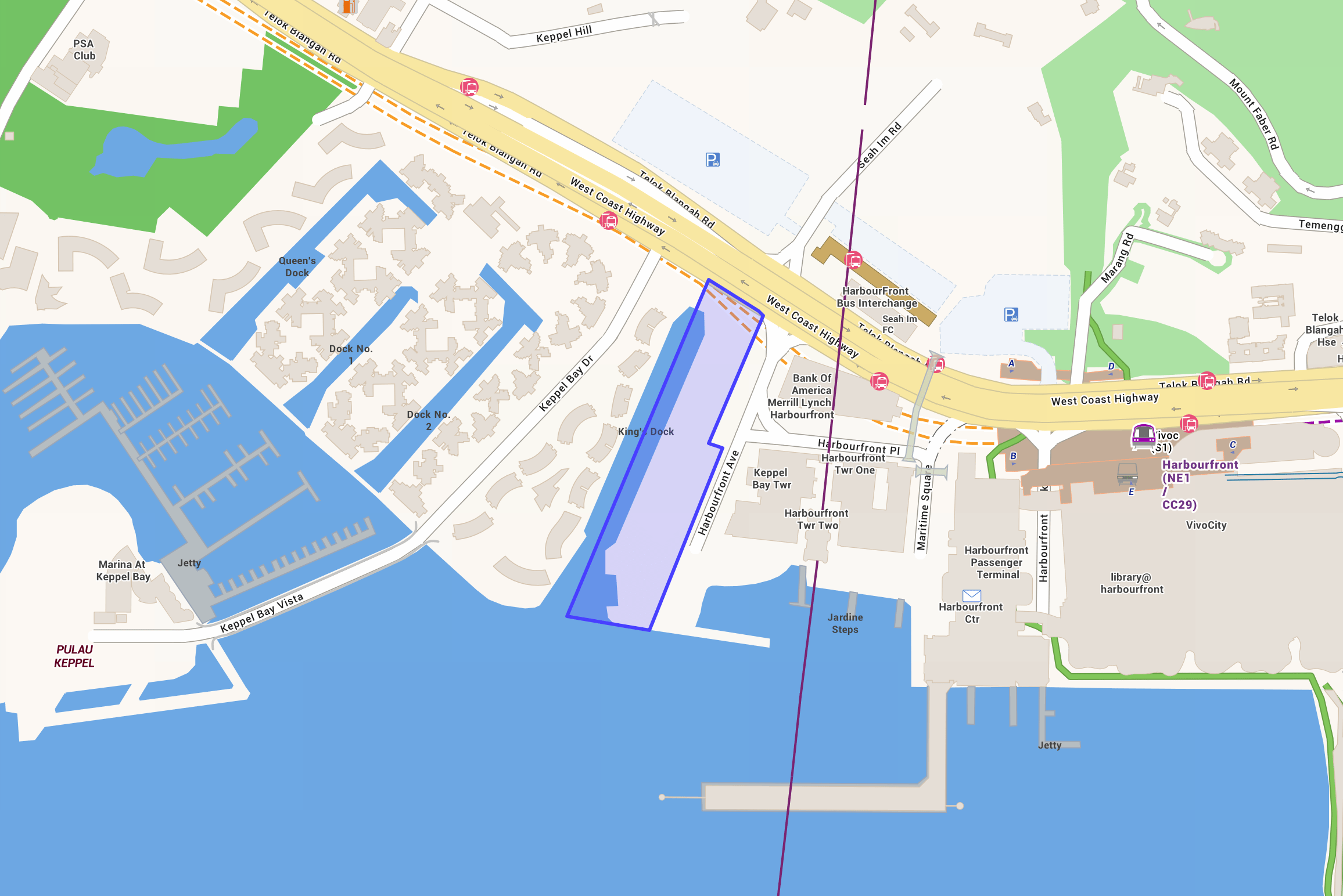 Exact Location of The Reef at King's Dock